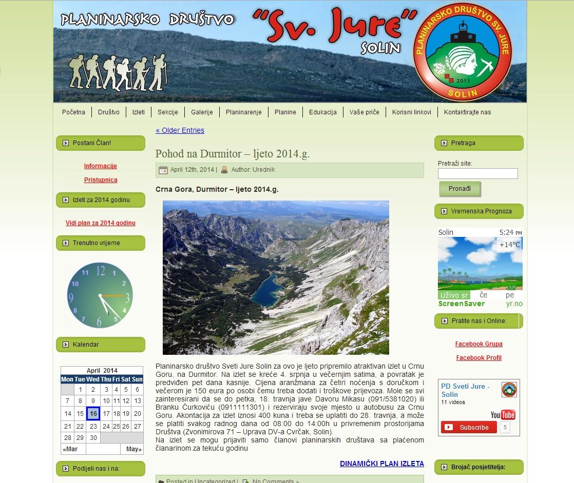 Planinarsko društvo Sv. Jure - Solin
